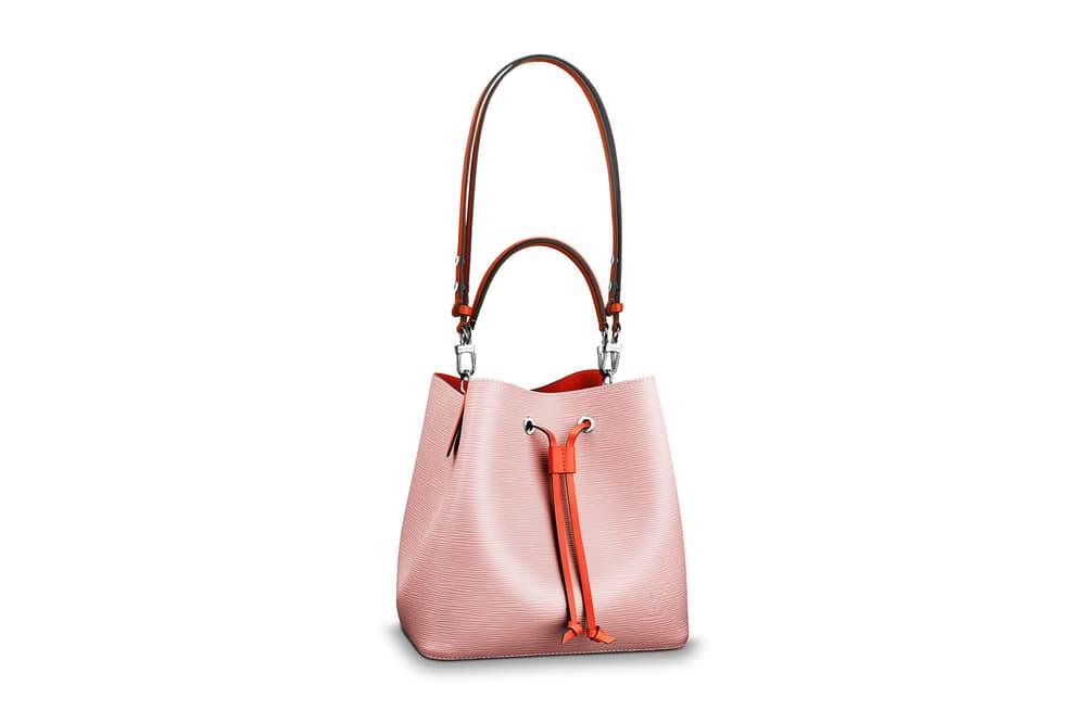 ec2609279b Louis Vuitton pastel pink handbag neonoe lv drawstring designer handbag  two-tone where to buy