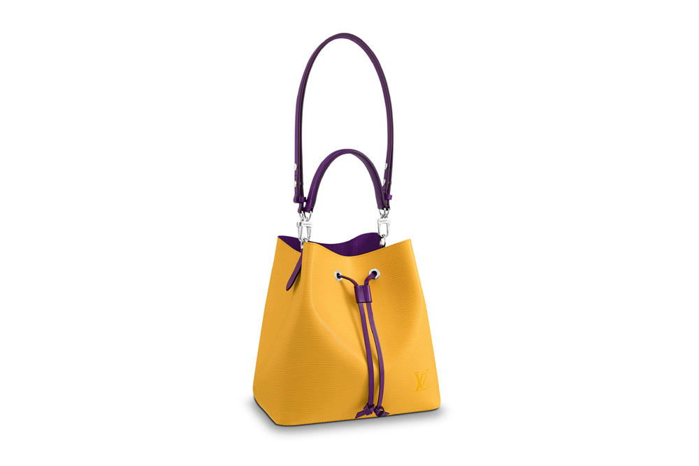 Louis Vuitton pastel pink handbag neonoe lv drawstring designer handbag two-tone where to buy