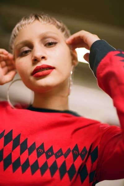 MadeMe Spring/Summer 2018 Lookbook Diamond Felt Long Sleeve T-Shirt Red