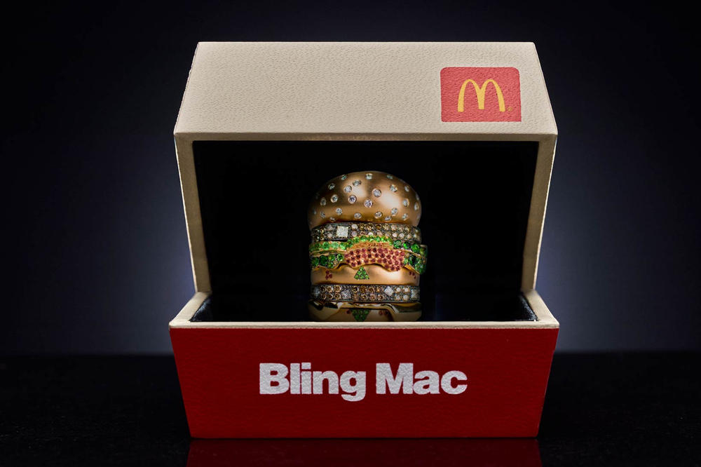 McDonald's Bling Mac Ring Nadine Ghosn