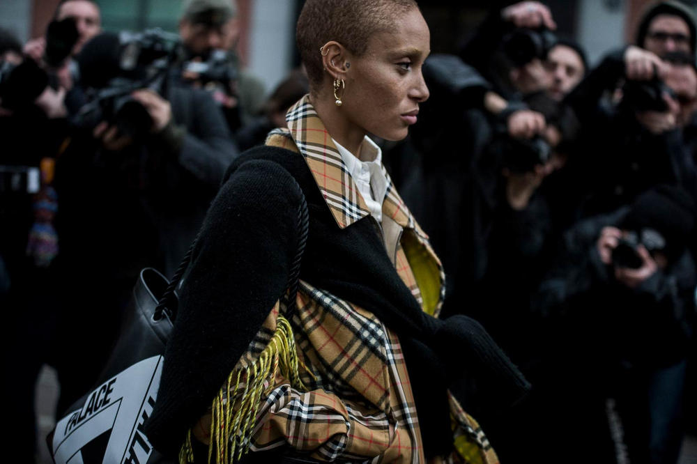 Adwoa Aboah Milan Fashion Week 2018 Streetsnaps Women