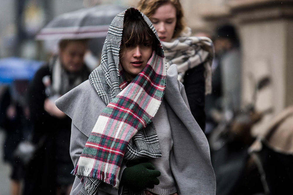 Milan Fashion Week 2018 Streetsnaps Scarf