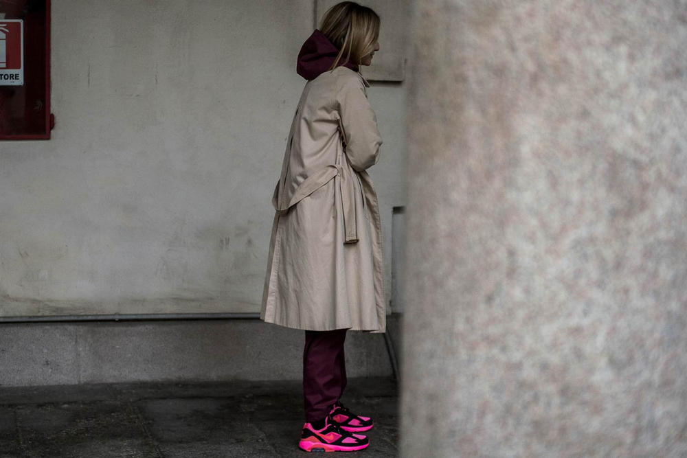 Milan Fashion Week 2018 Streetsnaps Women COMME des GARCONS Nike Air Max 180