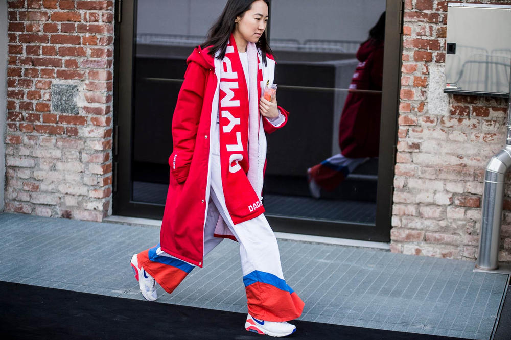 Milan Fashion Week 2018 Streetsnaps Women Tracksuit