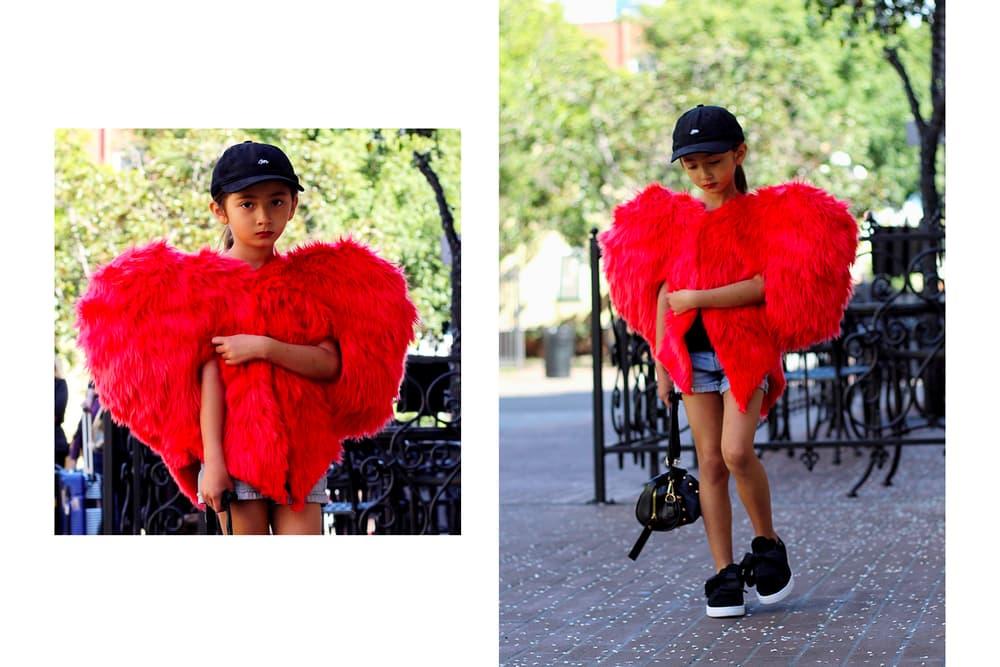Ksisterslove Rihanna Red Heart Jacket Coat hype kids editorial mini me designer