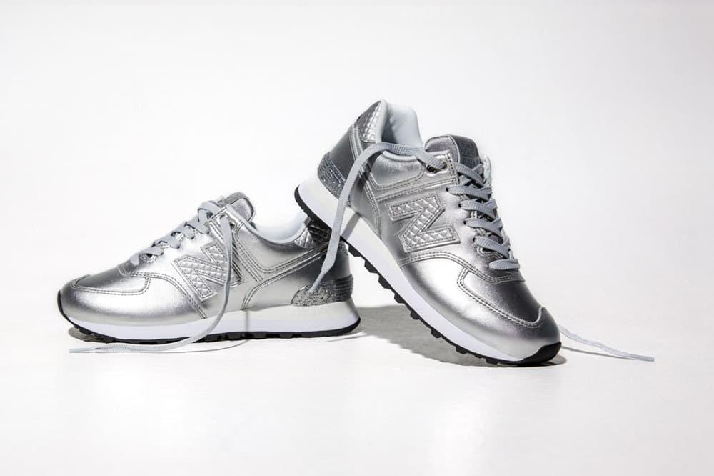 New Balance 574 Glitter Pack Silver
