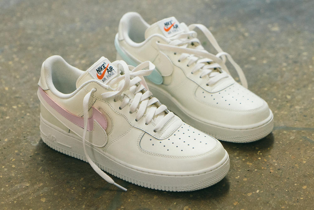 Nike Air Force 1 custom customizable removable swoosh black white where to buy release info drop