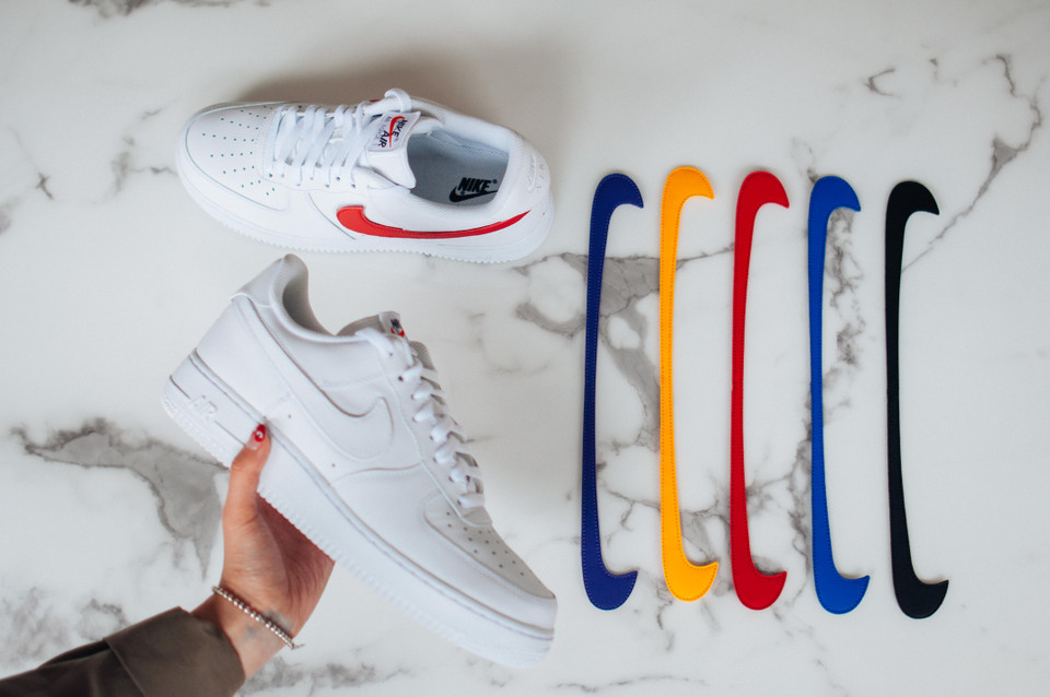 48b5eedf044 Watch Our Exclusive Unboxing of Nike s Air Force 1 with Customizable  Swooshes
