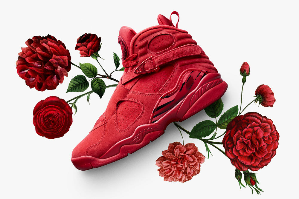 Nike Air Jordan VIII Valentines Day Womens Exclusive 2018 Red 5d9ad554c5