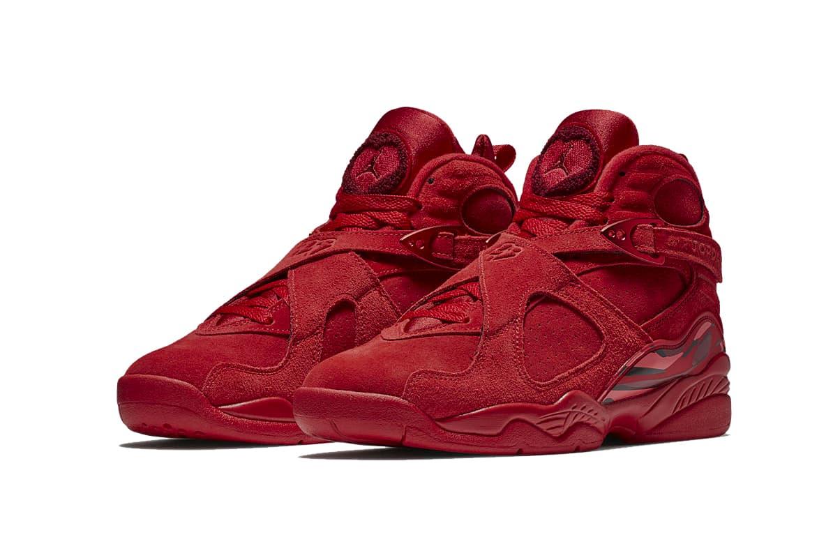 Nike Air Jordan Viii Valentine S Day In Red Hypebae
