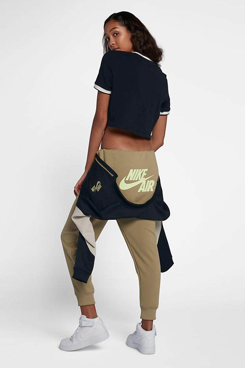 Nike Air Jumpsuit Tan Black Back View With Branding