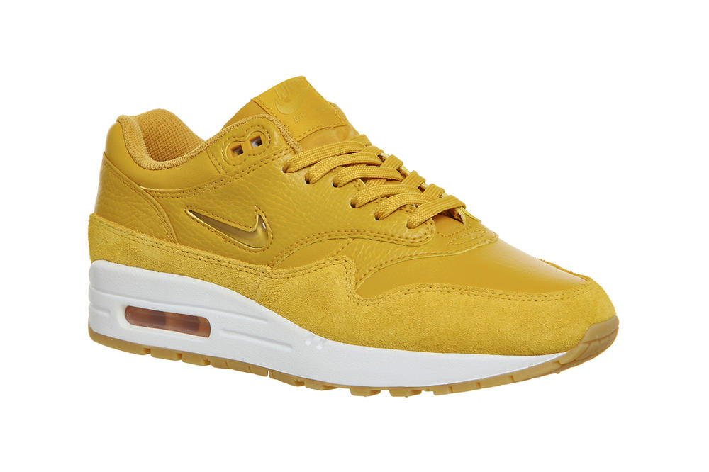 Nike air max 1 jewel mineral yellow golden womens sneakers where to buy office
