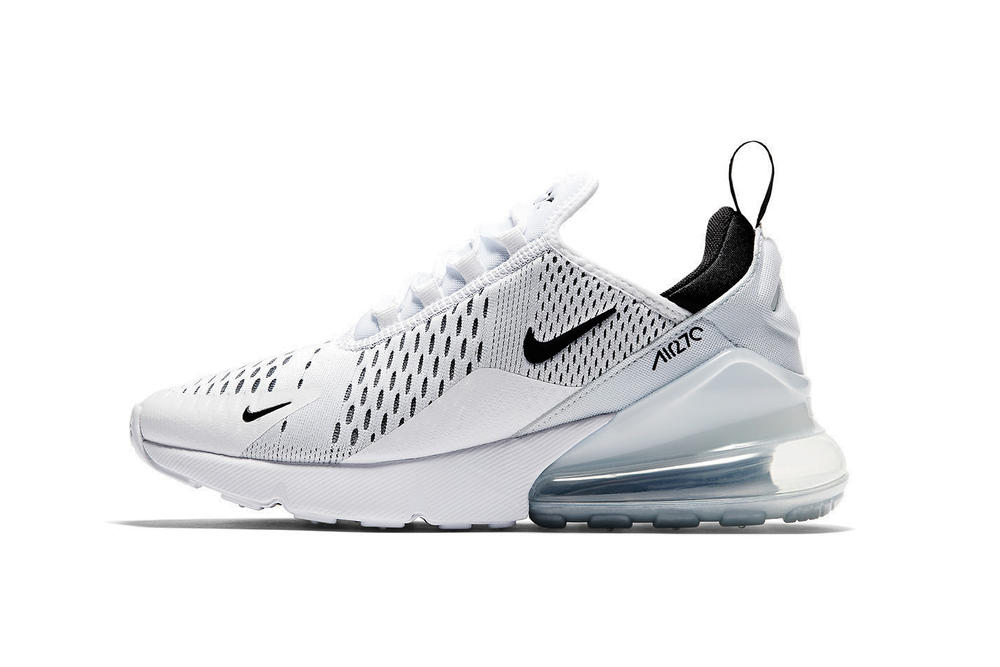 reputable site 70a13 c5aea Nike Air Max 270 Women s White Black Colorway Sneaker Silhouette New Modern Nike  Wmns