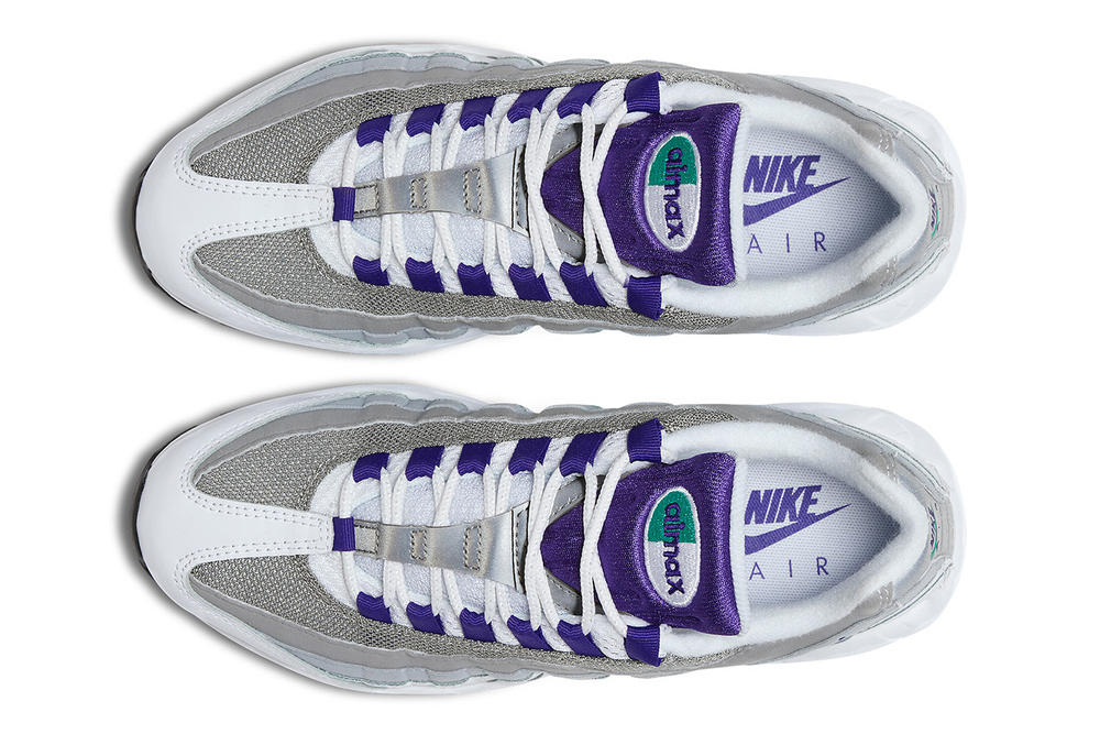 168f6c8b6c nike air max 95 womens wmns mens unisex sneakers grape 90s retro purple  turquoise teal bubble