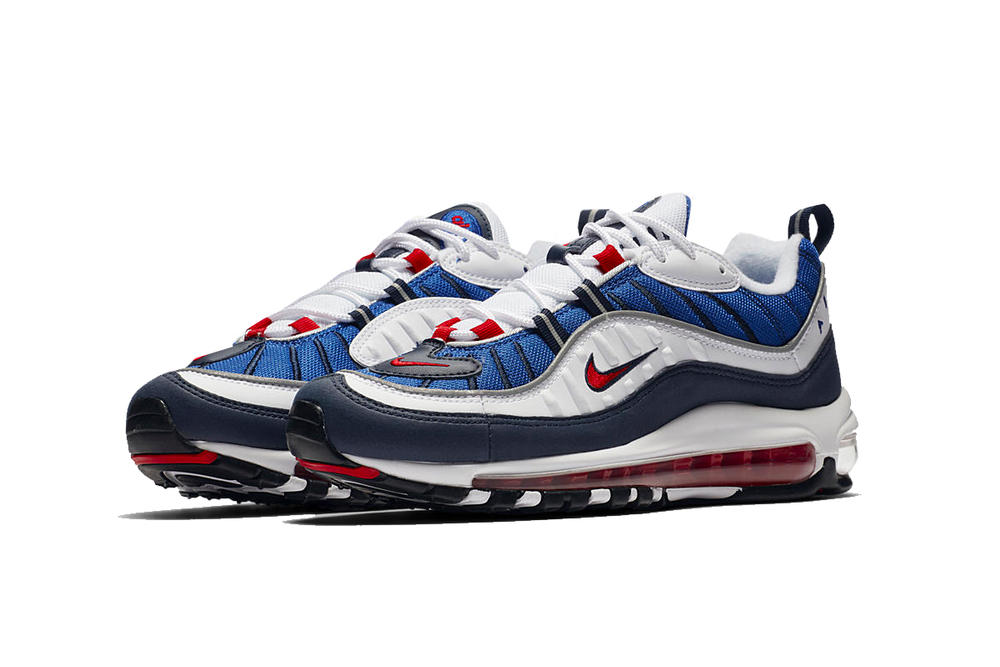 Nike Air Max 98 OG Gundam Seismic Velocity Red White Blue