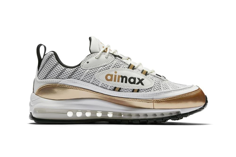 nike air max 98 uk white gold