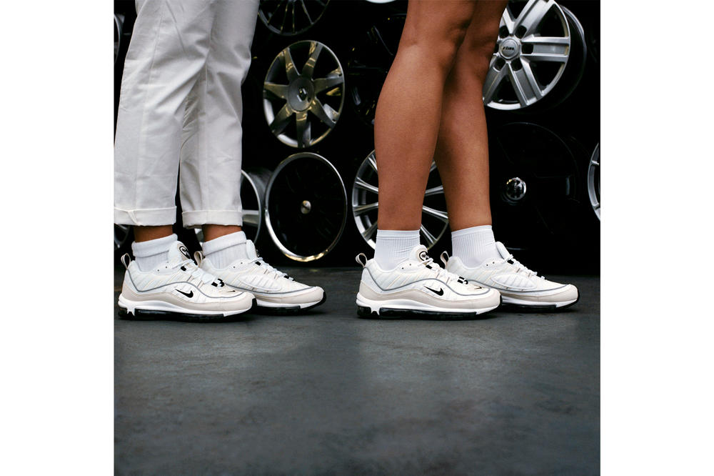 Nike Air Max 98 womens ladies white cream beige off-white sneakers typical girls magazine zine chani ceylia adama jalloh where to buy