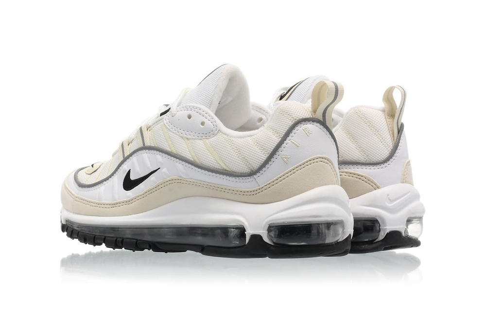 nike womens air max 98 white black fossil reflect silver cream off-white  yellow beige 2dd5d4bc5