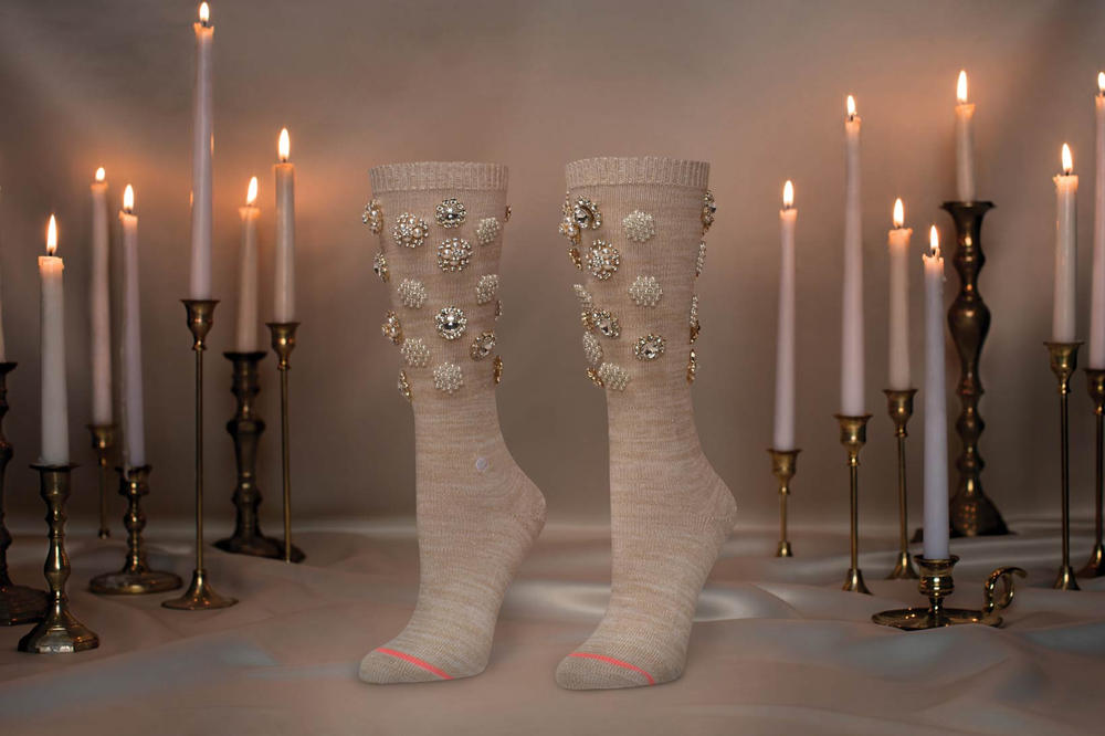 Rihanna Stance Cold Hearted Socks White Wine Black