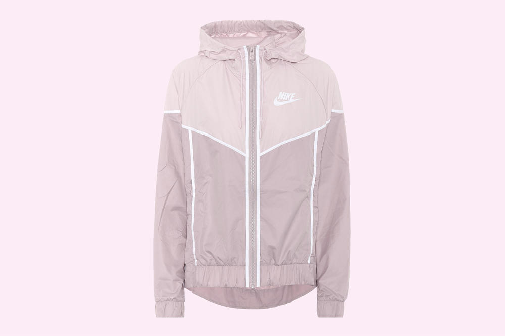 Nike pastel millennial light pink windbreaker windrunner jacket womens swoosh logo where to buy