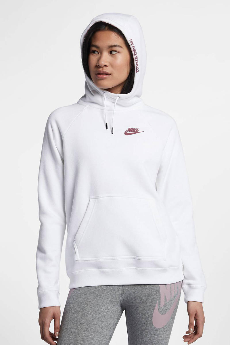 Nike Sportswear Force Is Female Pullover Hoodie White