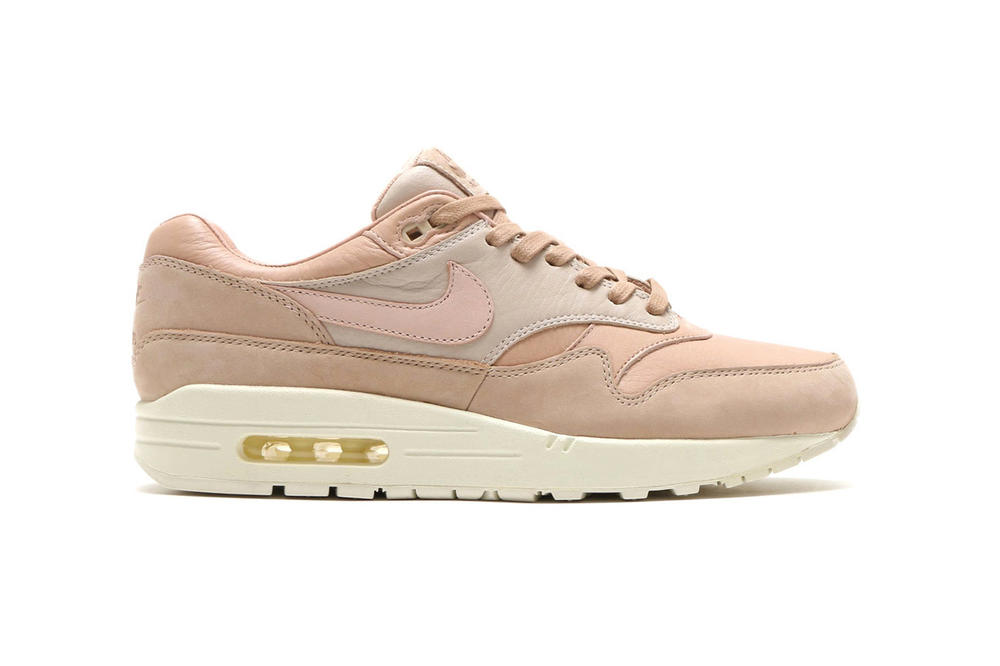 NikeLab Air Max 1 Pinnacle Sand naturally tanned leather pink