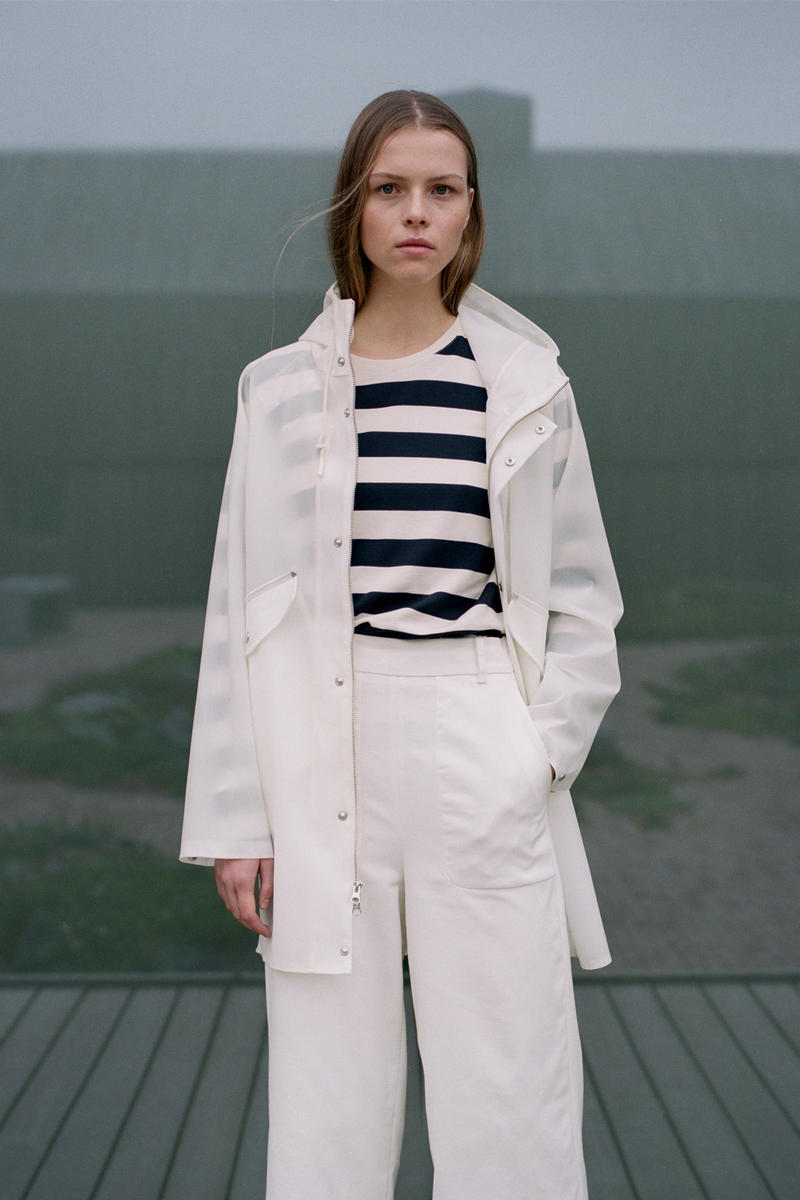Norse Project Spring/Summer 2018 Collection Lookbook PVC Rain Coat Striped Shirt