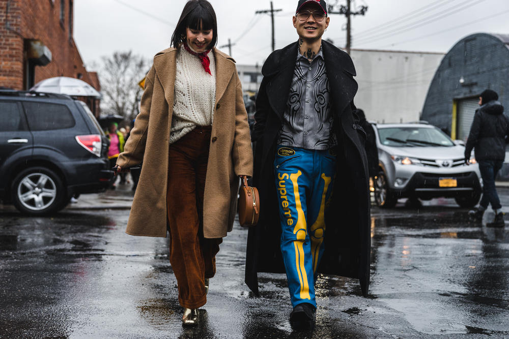 New York Fashion Week Part 1 Street Style Snaps Fashion Outfits NYFW 2018 Louis Vuitton Balenciaga Fendi Gucci Celine