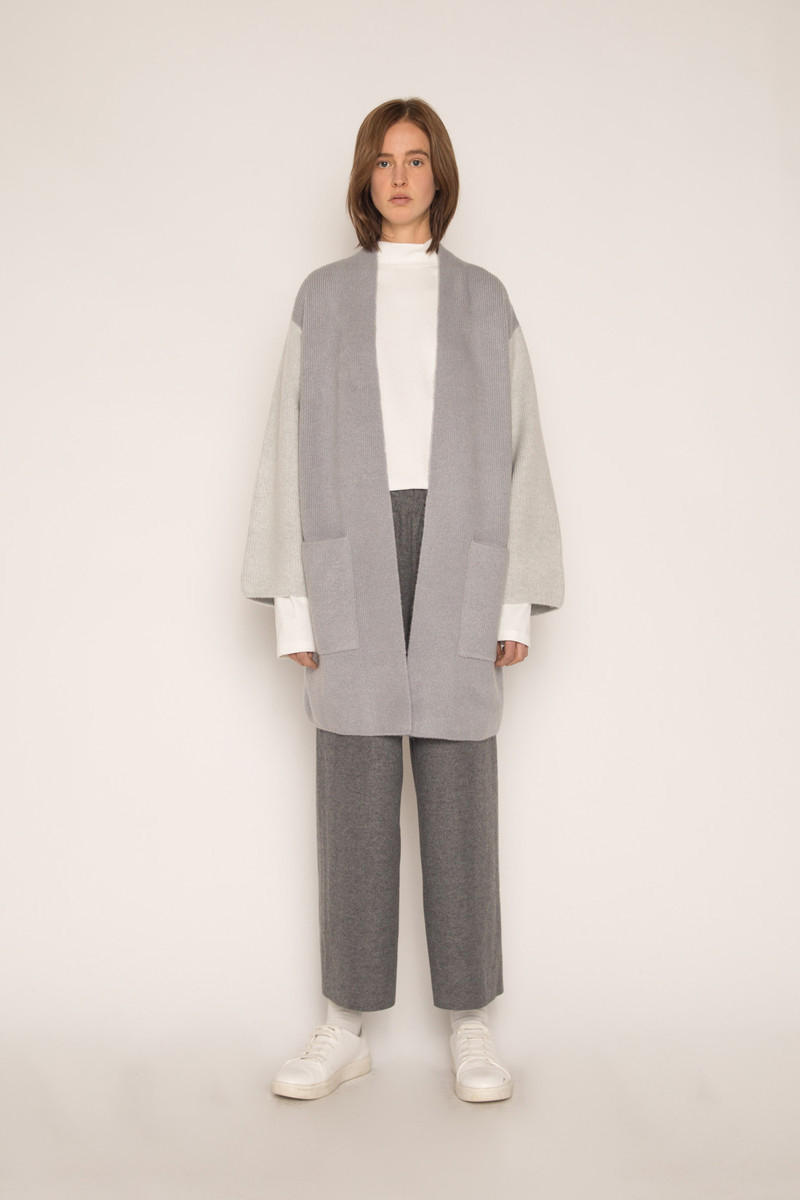 OAK + FORT Outerwear Flash Sale Cardigan Gray