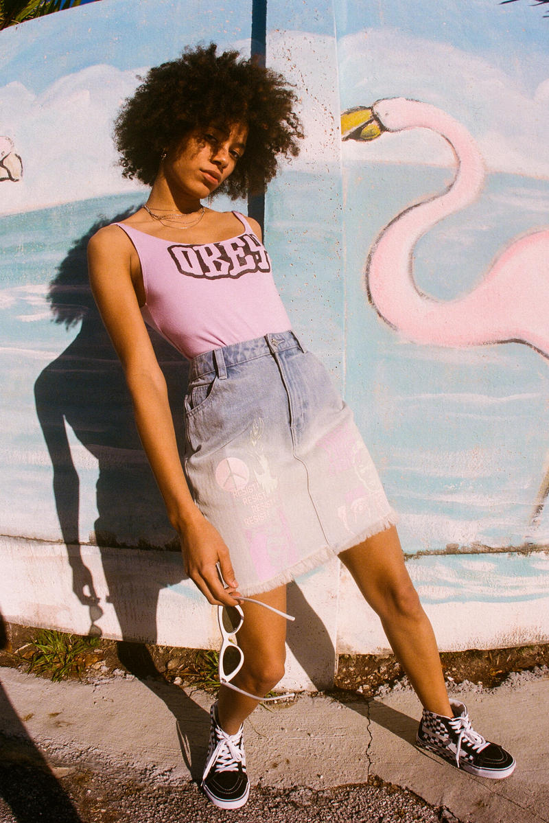 OBEY Women's Spring 2018 Lookbook Collection Street Style Miami LA Los Angeles