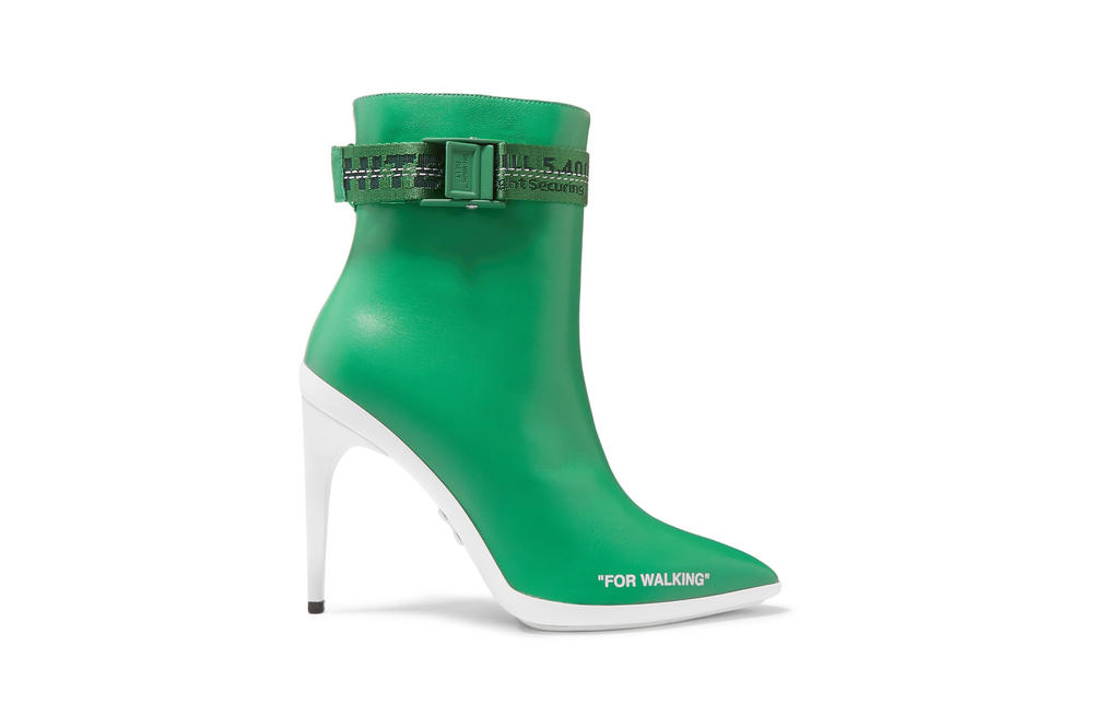 Off-White FOR WALKING Ankle Boots Green