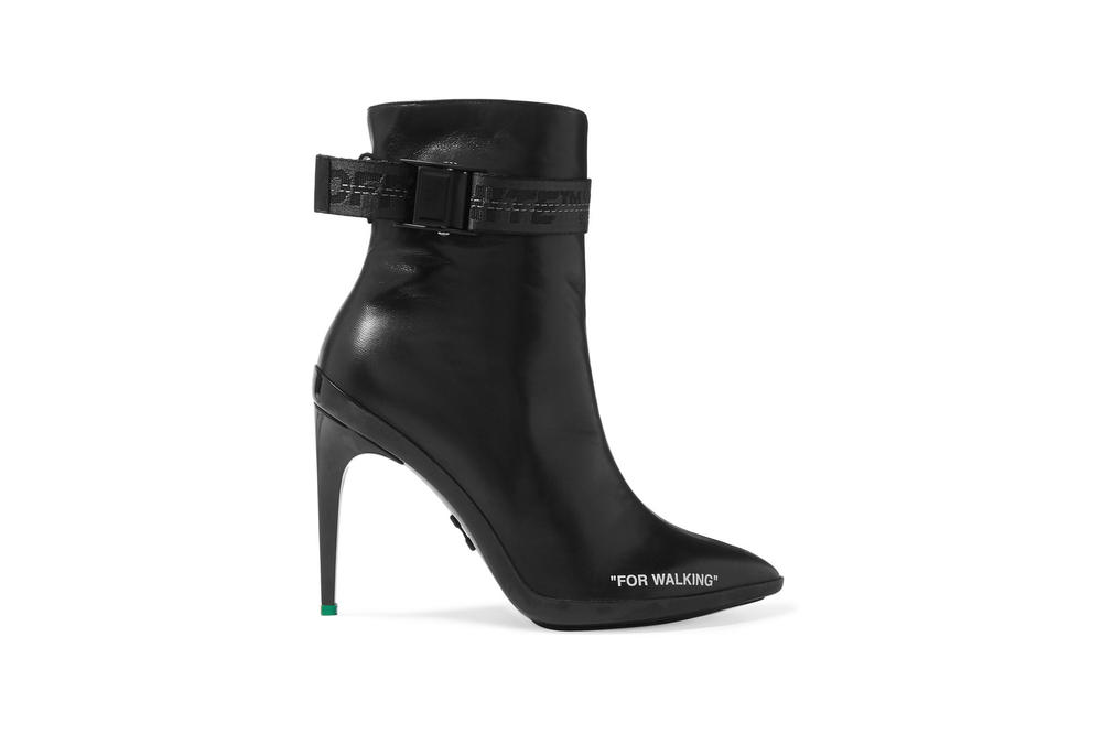 Off-White FOR WALKING Ankle Boots Black