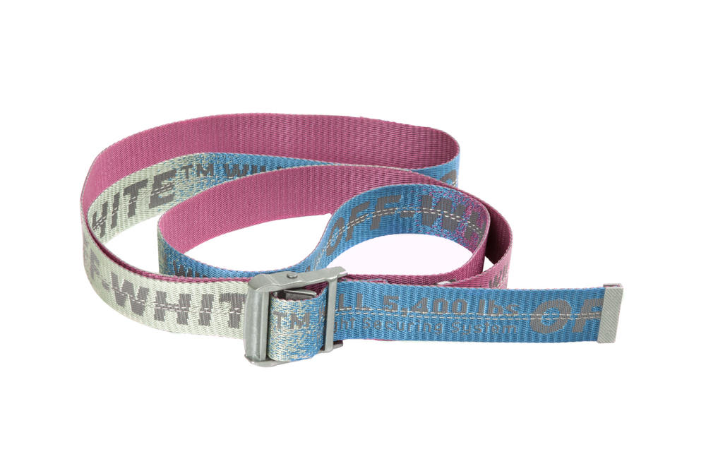 Off-White industrial belt virgil abloh mens womens unisex off white belts ombre pastel pink blue silver gradient where to buy