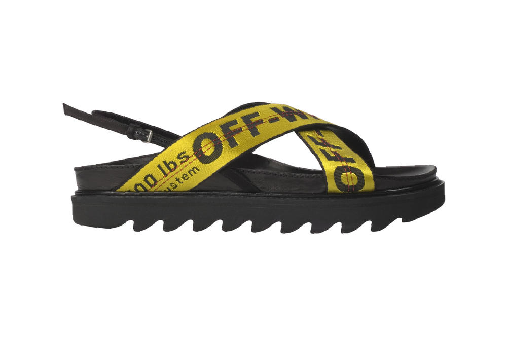 Off-white virgil abloh sandals slides womens industrial strap footwear slip on streetwear where to buy