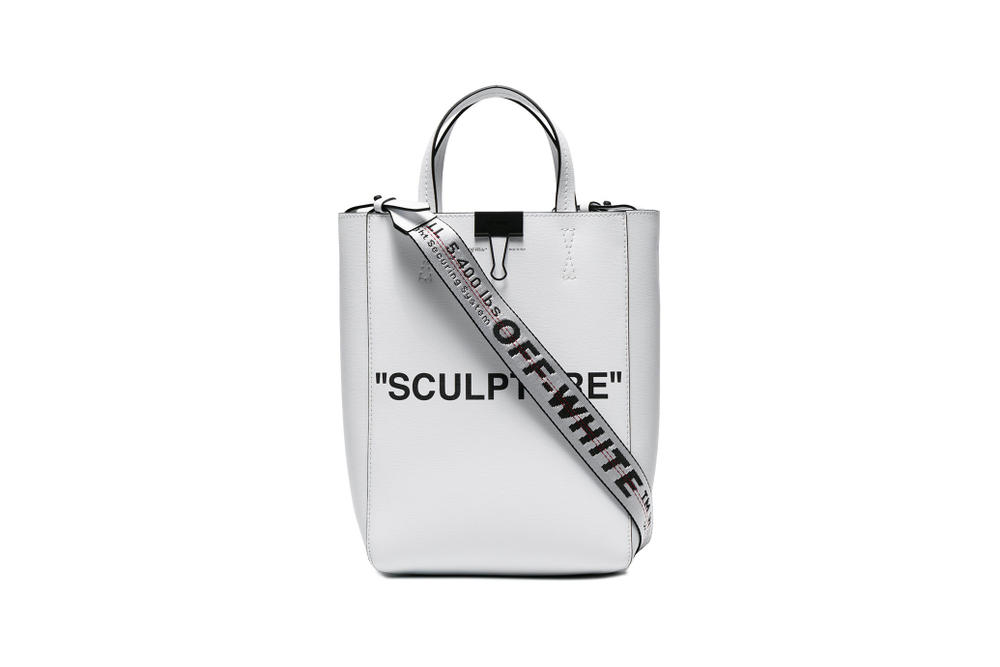 5165ccfe0956 Off-White™ Sculpture Tote Bag White Colorway Industrial Strap Leather Bag  Virgil Abloh