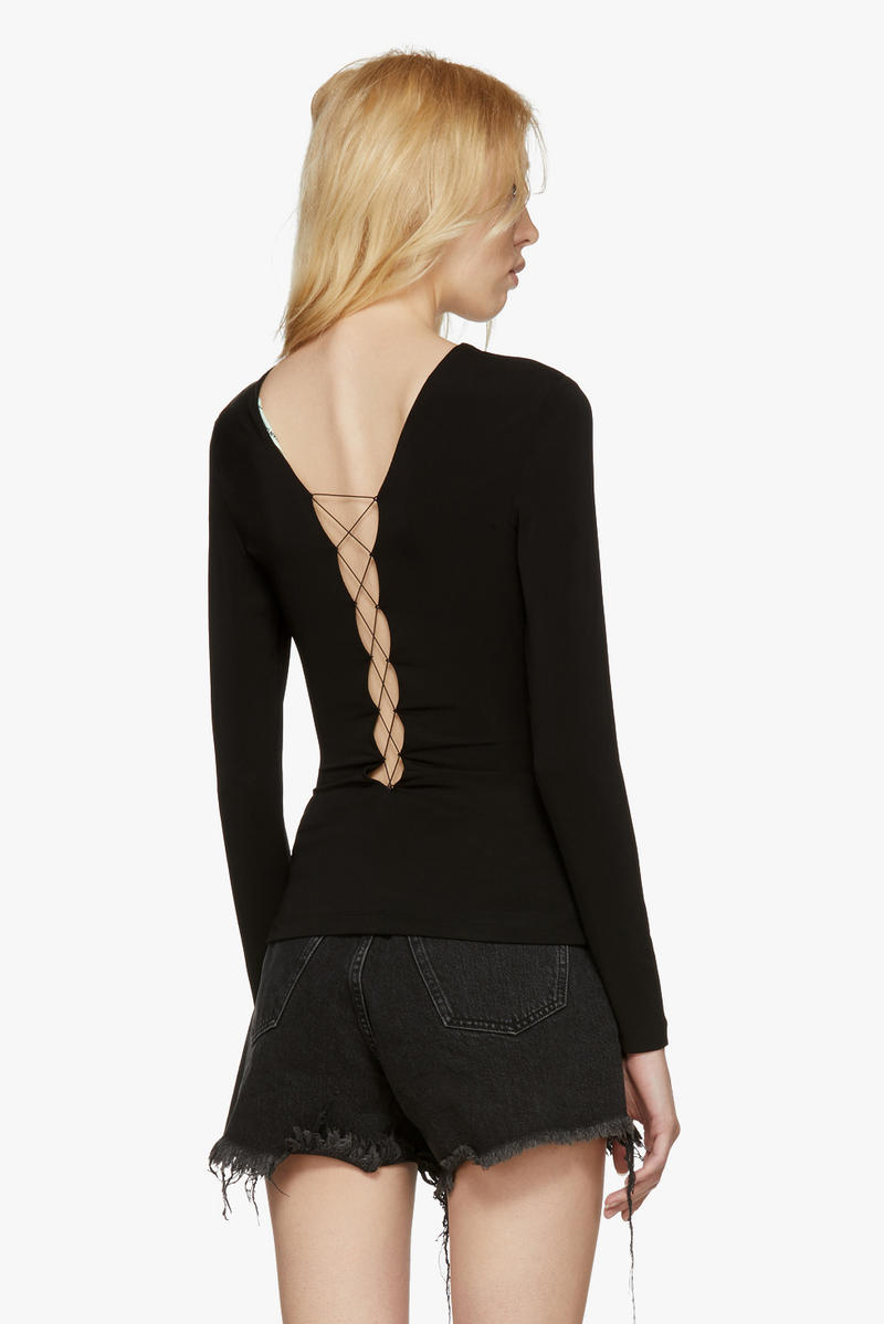 Off-White New Arrivals Spring Collection Lace Up Body Suit Back