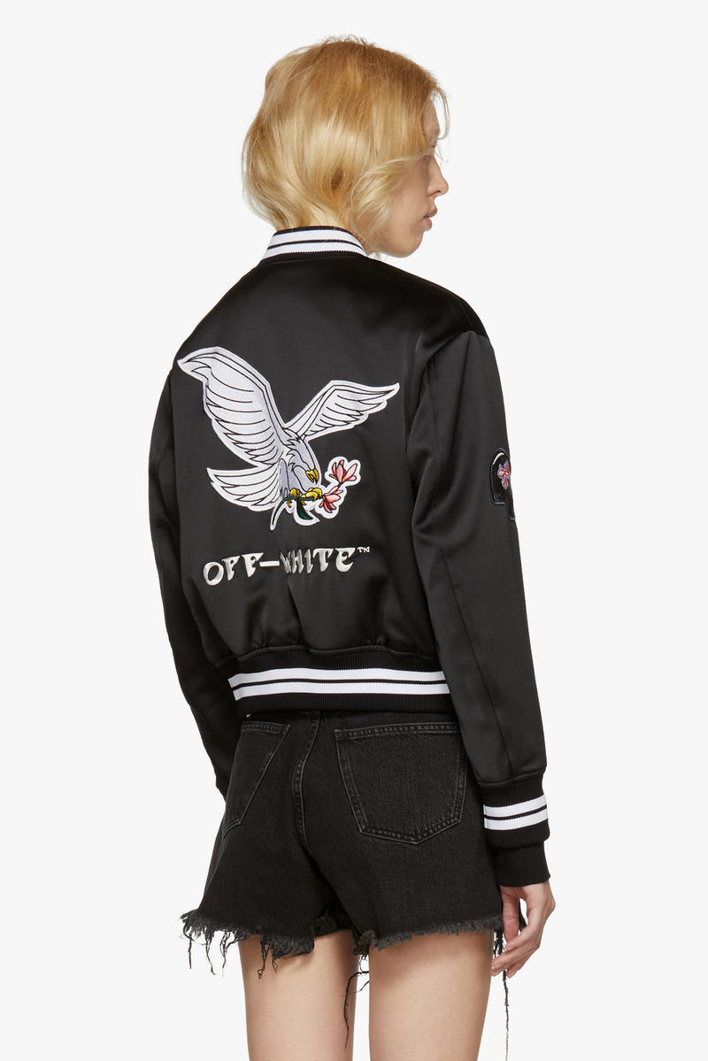 Off-White New Arrivals Spring Collection Silk Bomber Jacket