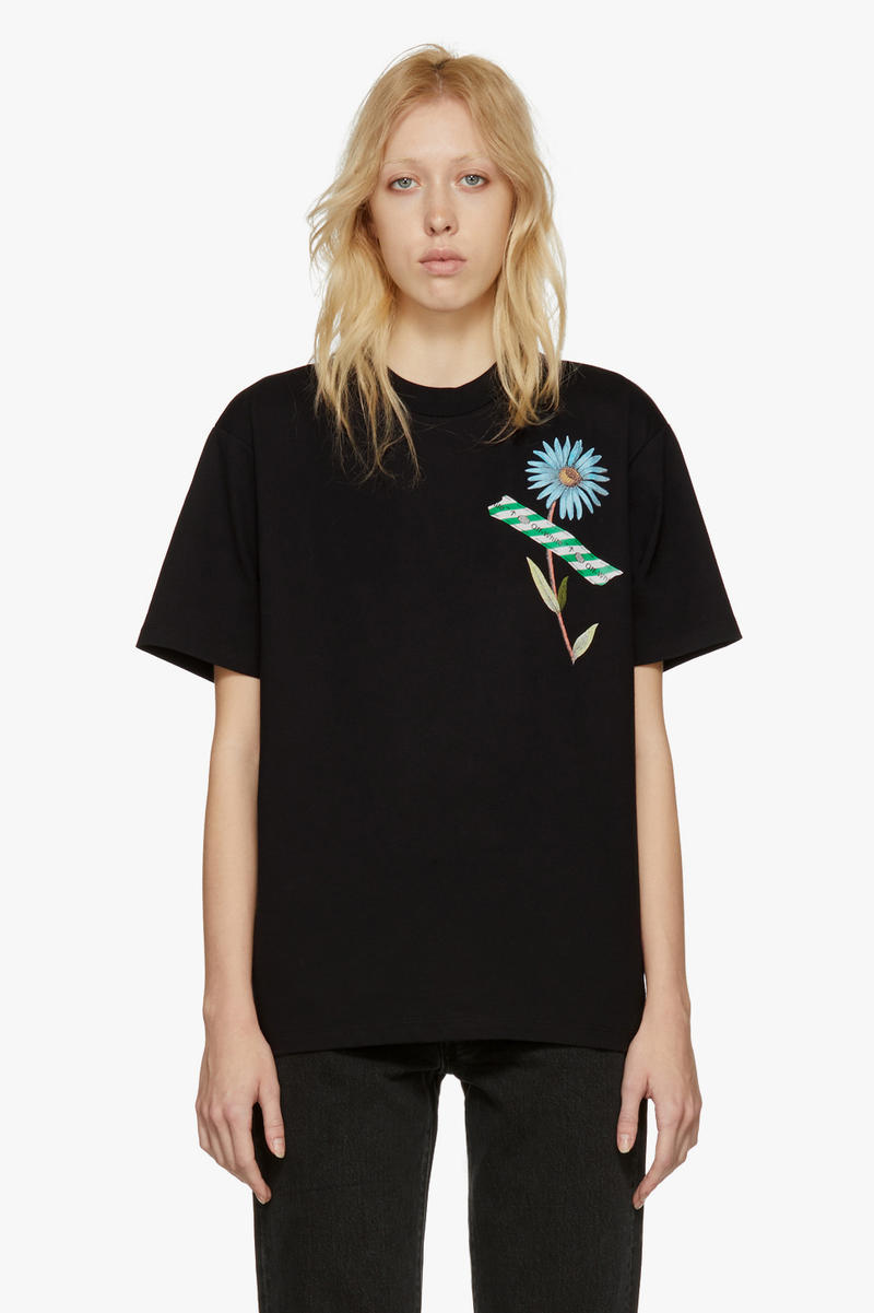 Off-White New Arrivals Spring Collection T-Shirt Flower Print