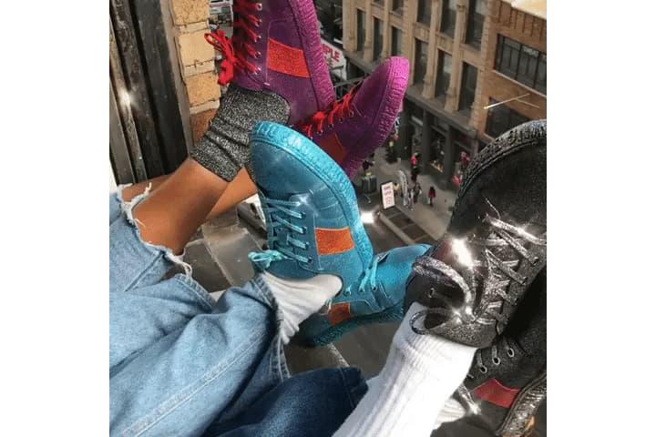 opening ceremony la cienaga glitter sneakers