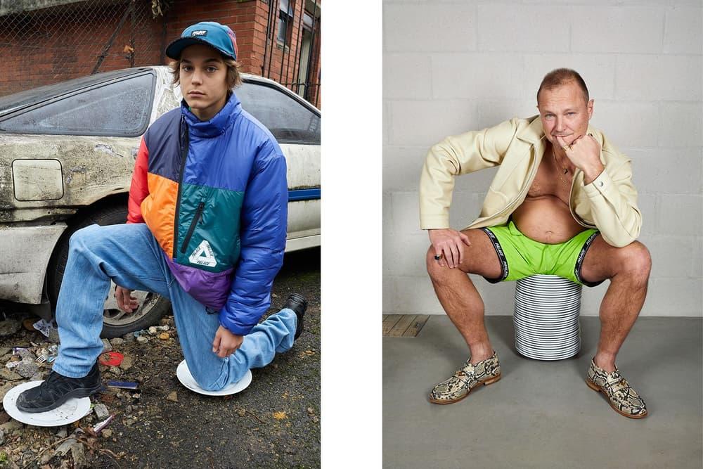 Palace Skateboards Spring 2018 Collection Lookbook Juergen Teller Blue Orange Jacket Green Shorts