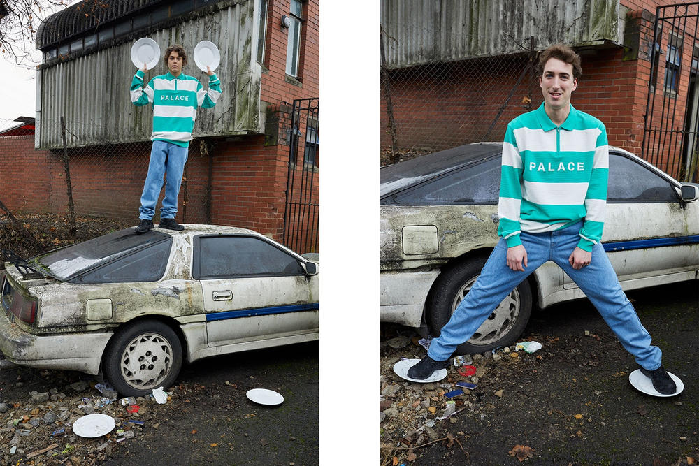 Palace Skateboards Spring 2018 Collection Lookbook Juergen Teller Green White Collared Shirt