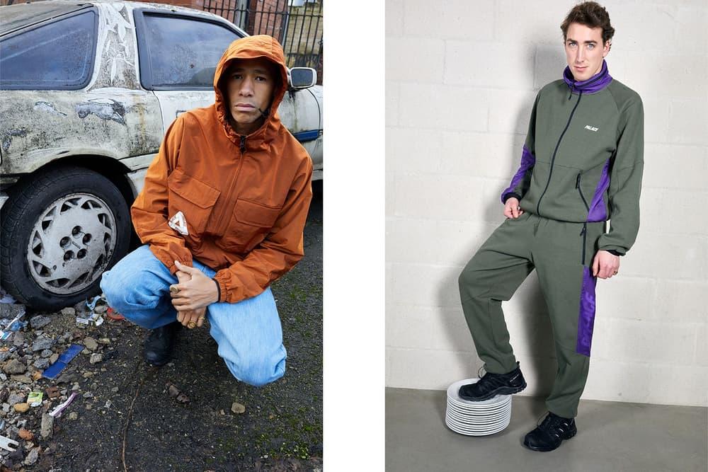 Palace Skateboards Spring 2018 Collection Lookbook Juergen Teller Orange Jacket Green Purple Tracksuit