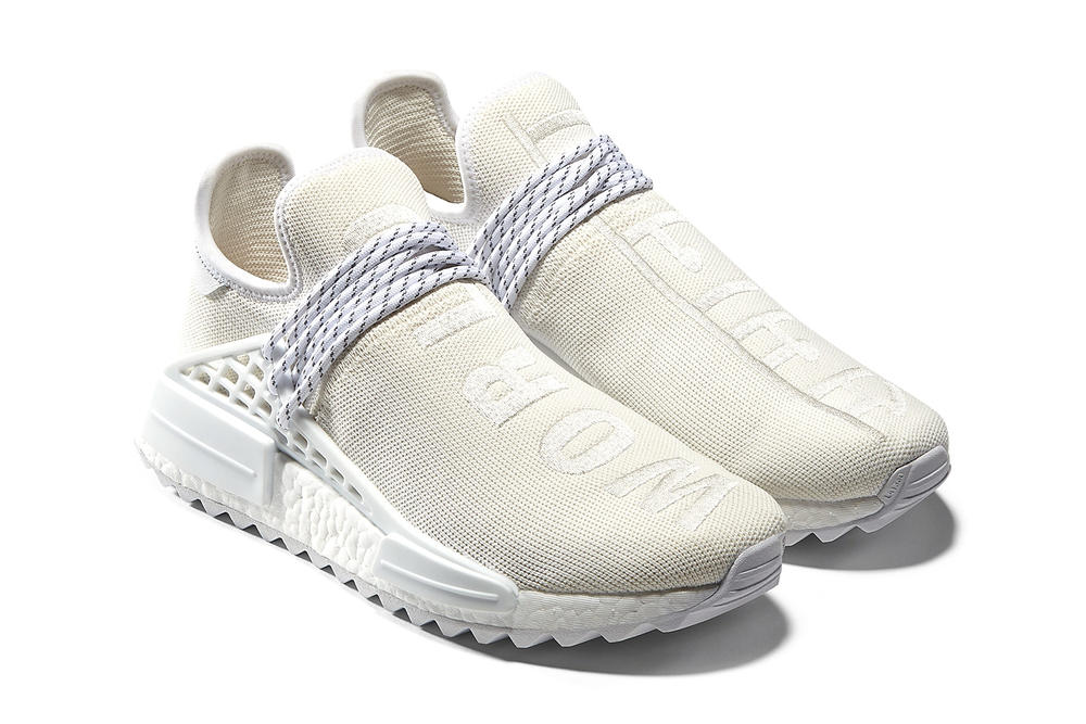 pharrell williams adidas originals blank canvas pack holi hu nmd trail tennis stan smith white cream primeknit track top release info date