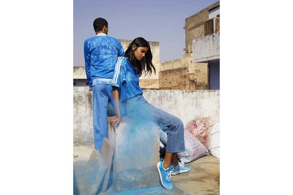Pharrell williams adidas originals hu holi adicolor collection india hindu festival powder dye apparel stan smith tennis sneakers where to buy