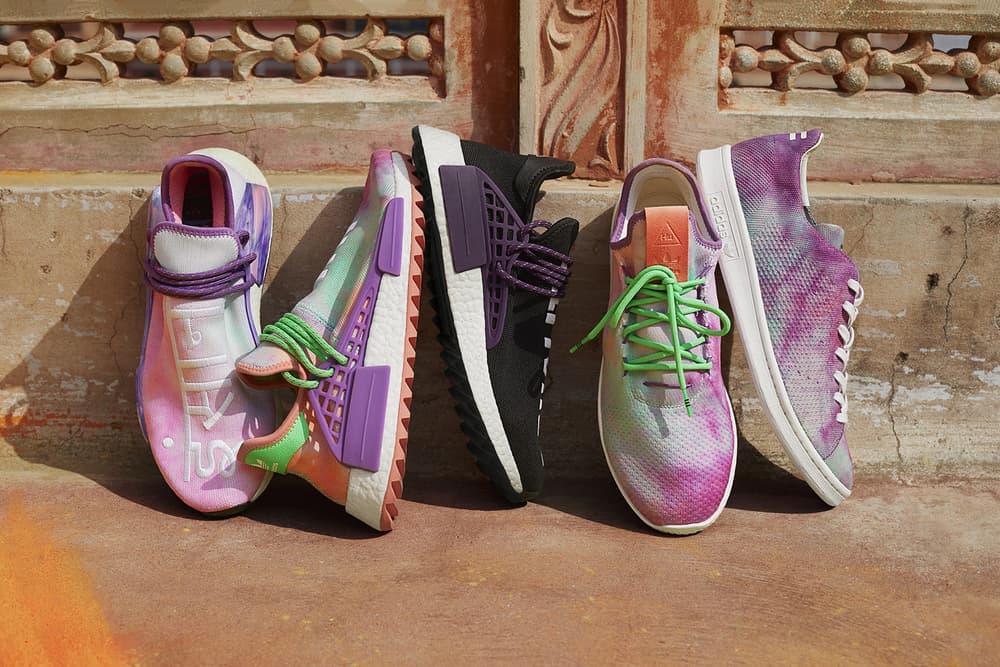 Pharrell Williams x adidas Originals Hu Holi Powder Dye NMD Trail Tennis Hu Stan Smith