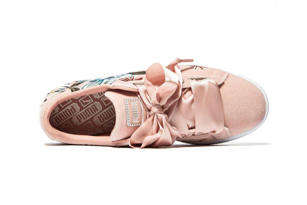 official photos a288d 3cfac Shop Puma's Basket Heart in a Floral Pink Color | HYPEBAE