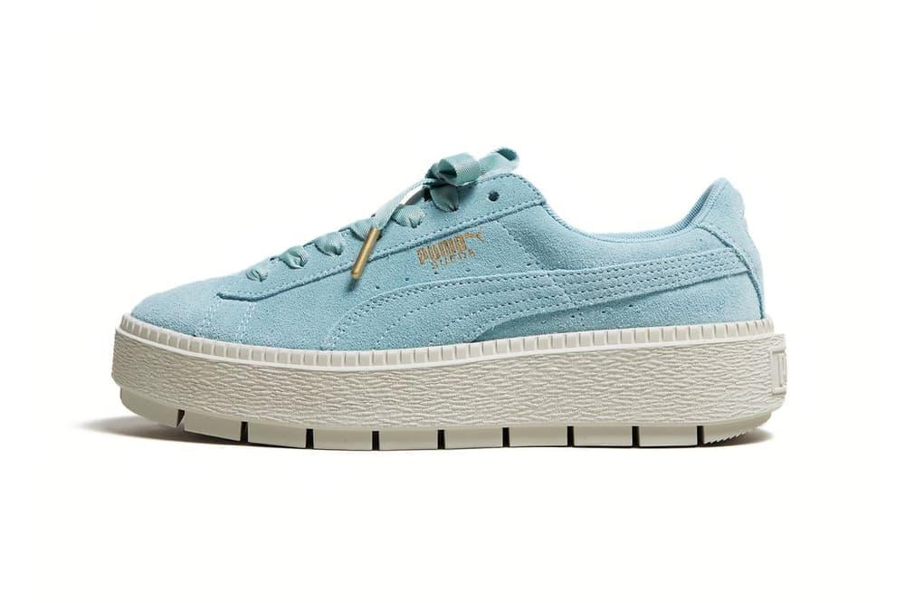 puma suede platform trace sneaker pastel aqua blue