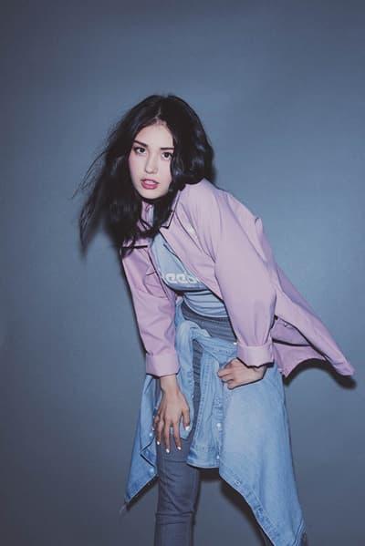 K-Pop Star Somi in Reebok Classic Campaign Club C 85 Sneaker Silhouette
