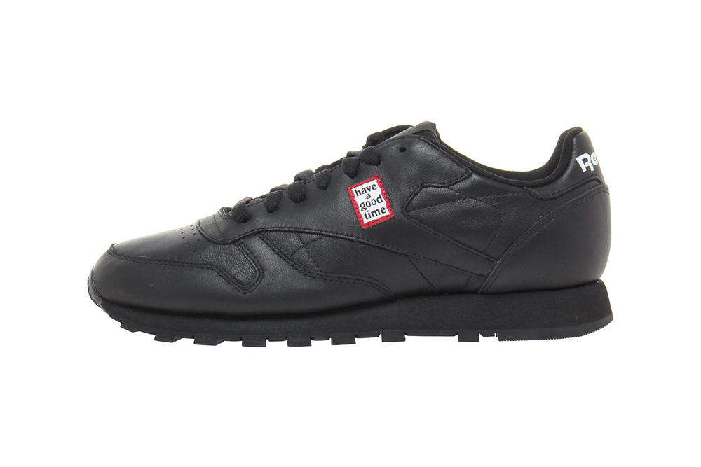 have a good time x Reebok Collection Classic Leather Sneakers Black