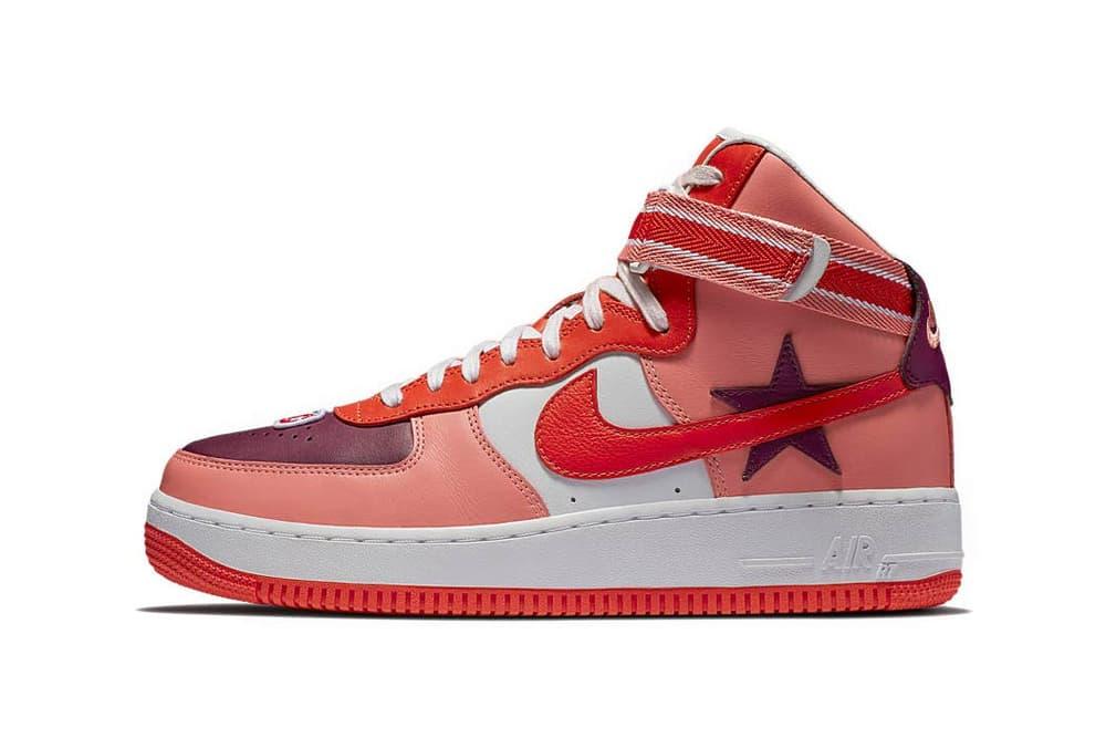 huge selection of e0c10 56441 Riccardo Tisci Nike Air Force 1 Hi Icarus